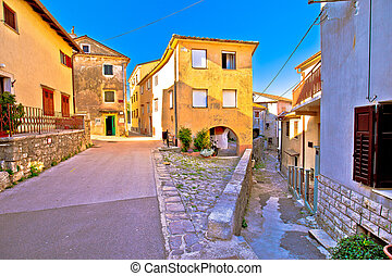 Medieval town of Kastav colorful street view, Kvarner bay,...