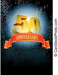 Fiftieth anniversary - Background with design elements for...