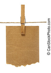 clothespins and notepads