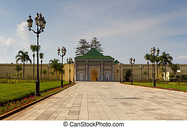 Royal Palace of Rabat - Royal Palace and parade square of...
