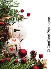 Jingle bell Christmas border - Christmas border with jingle...