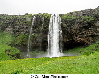 Seljalandsfoss Waterfall in Iceland, July 6, 2017