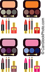 complete set of makeup - make-up for eyes of different...