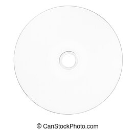 empty disk 1 - disc close up. blank disc on white background...