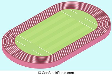 Stadium for olympic games flat image in vector