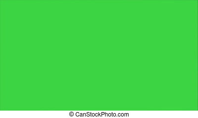 Little girl singing and dancing on a Green Screen, Chroma...