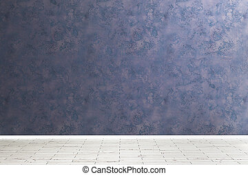 Unfurnished room with empty wall - Unfurnished room interior...