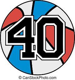 40 basket - Creative design of 40 basket