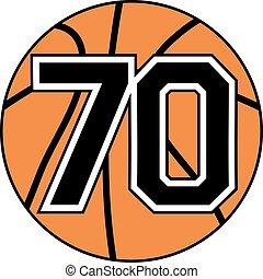70 basket symbol - Creative design of 70 basket symbol