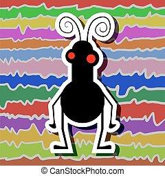 imaginative funny insect - Creative design of imaginative...