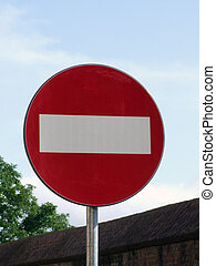 Traffic sign - No passing