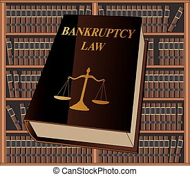Bankruptcy Law is an illustration of a bankruptcy law book...