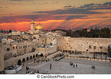 Jerusalem Israel Wailing wall - Western Wall at the Dome Of...