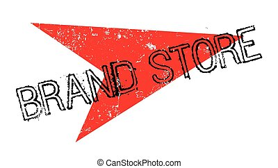 Brand Store rubber stamp. Grunge design with dust scratches....