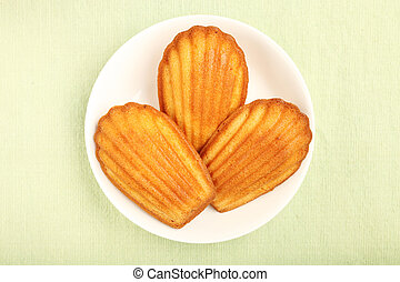 Madeleine on a white plate