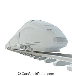 White high-speed train