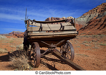 Capitol Reef National Park,Americana - Old Farm equiptment...