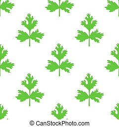 Coriander herb, chinese parsley seamless pattern. Vector illustration