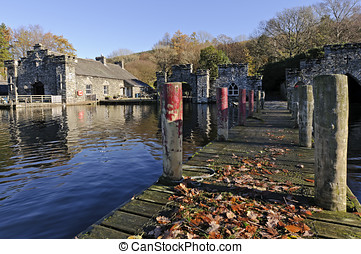 Lake Windermere in Lake District National Park Cumbria...