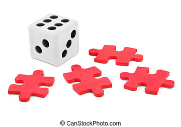 Dice and puzzle
