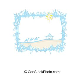 birth of Jesus in Bethlehem - abstract frame