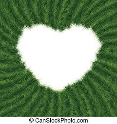 Christmas framework in form of heart. EPS 8