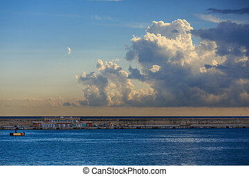 Clouds Over Mallorca Seawall and Coast