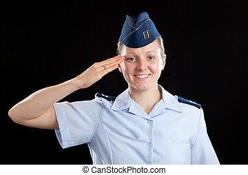 militär, flicka