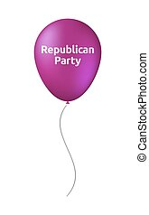 Isolated balloon with the text Republican Party -...