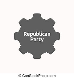 Isolated gear with the text Republican Party - Illustration...