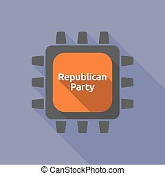 Long shadow cpu with the text Republican Party -...
