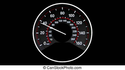 Vehicle speedometer going to max speed through the gears and...