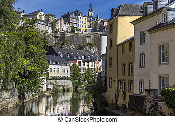 Luxembourg City - Ville de Luxembourg. The walls of the old...