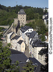 Luxembourg City - Ville de Luxembourg. The Grund area of the...