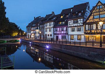 Little Venice area of Colmar - France - Historic buildings...