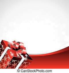 Vector Christmas illustration with gift box.