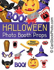 Halloween photo booth props. Accessories for festival and...
