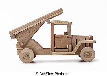 A military truck is a toy car made of wood. - Handmade...