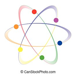 LGBT Whirling Atoms - Whirling atoms in the LGBT colours...