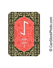 the runes card - An illustration on a theme of divination...