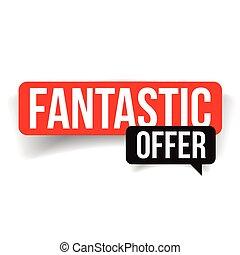 Fantastic offer label red vector