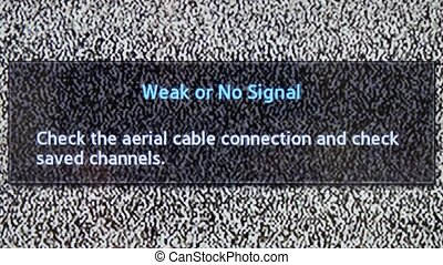 No channel white noise signal close-up .