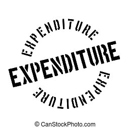 Expenditure rubber stamp. Grunge design with dust scratches....