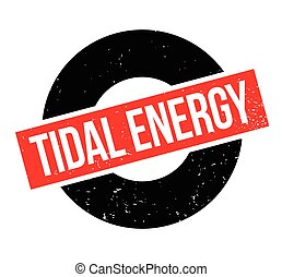 Tidal Energy rubber stamp. Grunge design with dust...