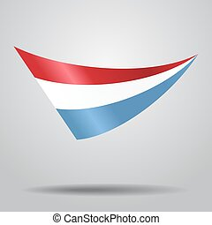 Luxembourg flag background. Vector illustration. -...