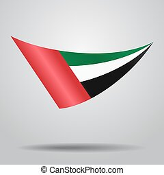 United Arab Emirates flag background. Vector illustration. -...