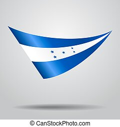 Honduras flag background. Vector illustration. - Honduras...