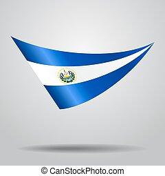 El Salvador flag background. Vector illustration. - El...