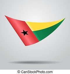 Guinea-Bissau flag background. Vector illustration. -...