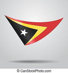 Timor-Leste flag background. Vector illustration. -...